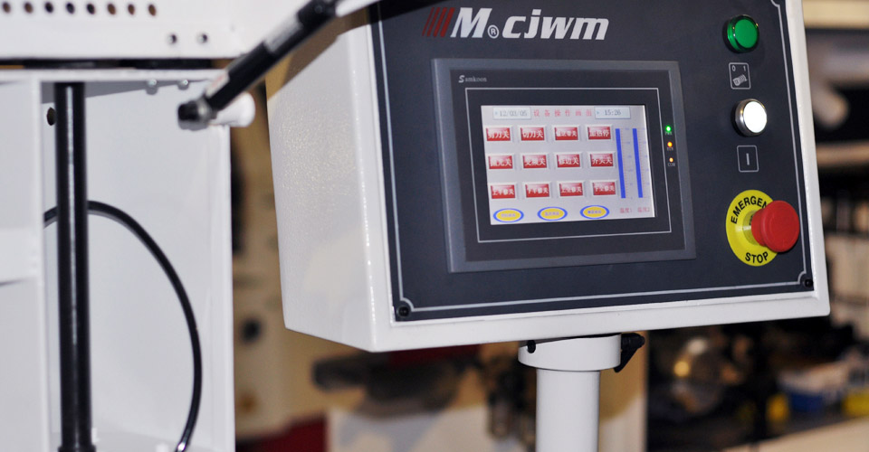 All New LED Touch Screen Control System for MF-509RA Edge Bander.